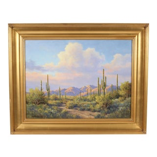 Desert Landscape Painting by David Chapple For Sale