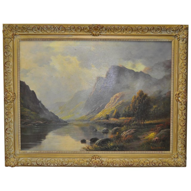 Antique 1920s Scottish Highlands Oil Painting - Image 1 of 7
