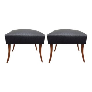 Pair of Faux Ostrich Footstools For Sale