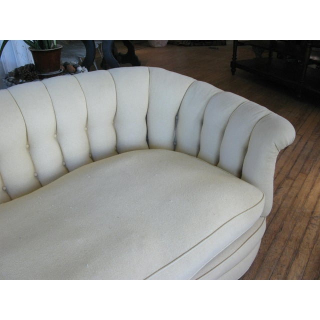 Vintage 1940s Button Tufted Sofa For Sale In New York - Image 6 of 7
