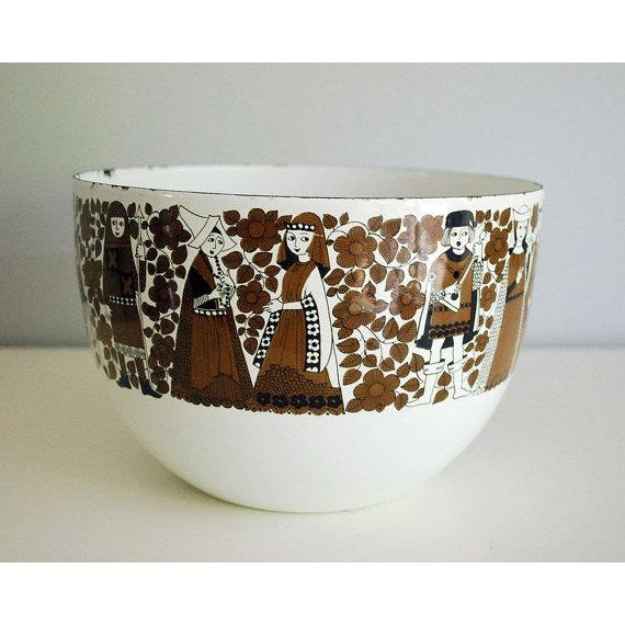 Arabia Mid Century Kaj Franck for Finel Enamelware Arabia Bowl For Sale - Image 4 of 8