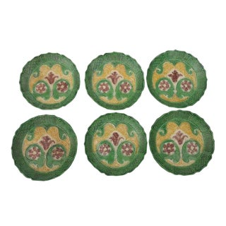 Antique Chinese Import Chinoiserie Small Decorative Plates - Set of 6