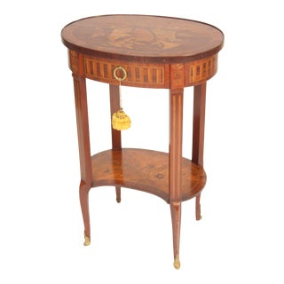 Antique Louis XV Style Inlaid Occasional Table For Sale