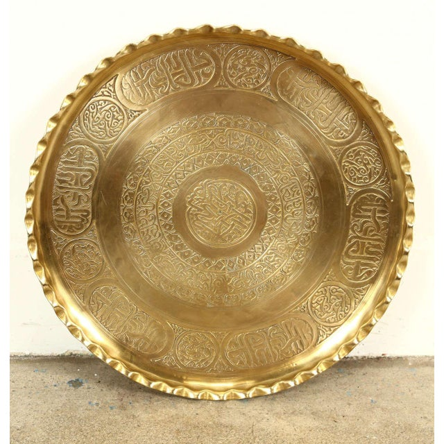 Moorish Brass Tray Side Table For Sale - Image 9 of 10