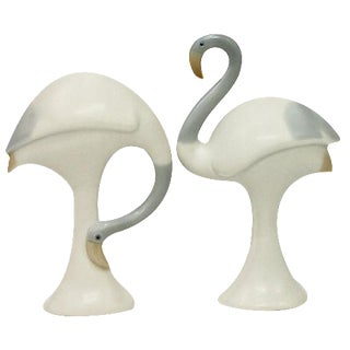 1920s Bisque Porcelain Birds- A Pair For Sale