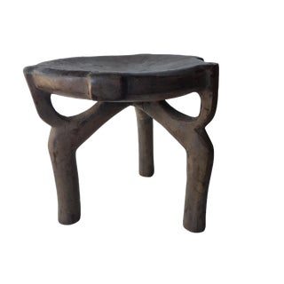 "African Old Carved Wood Milk Stool Hehe Gogo People Tanzania 12"" H For Sale"