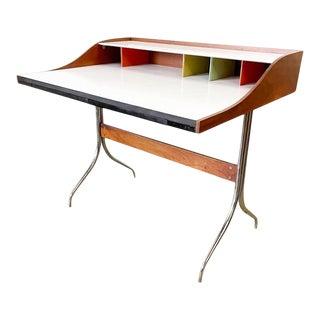 """Mid Century Herman Miller George Nelson """"Swag Leg"""" Office Desk For Sale"""