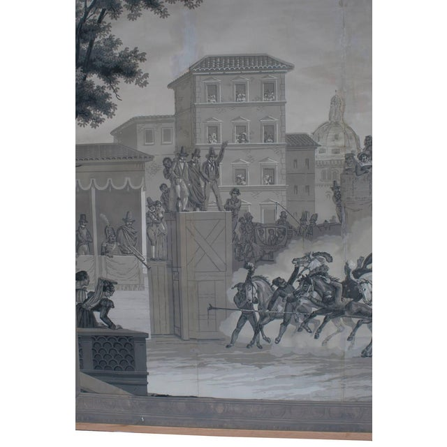 Grisaille Panel Depicting Neapolitans Watching Horse Racing For Sale - Image 4 of 10