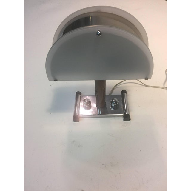 Silver Modernist Art Deco Lamp For Sale - Image 8 of 13