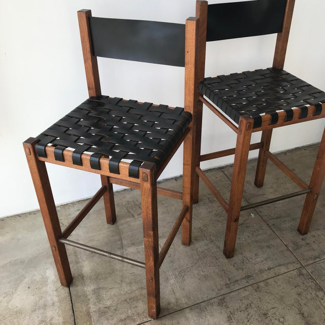 1960s Glenn of California Barstools - a Pair For Sale - Image 5 of 10