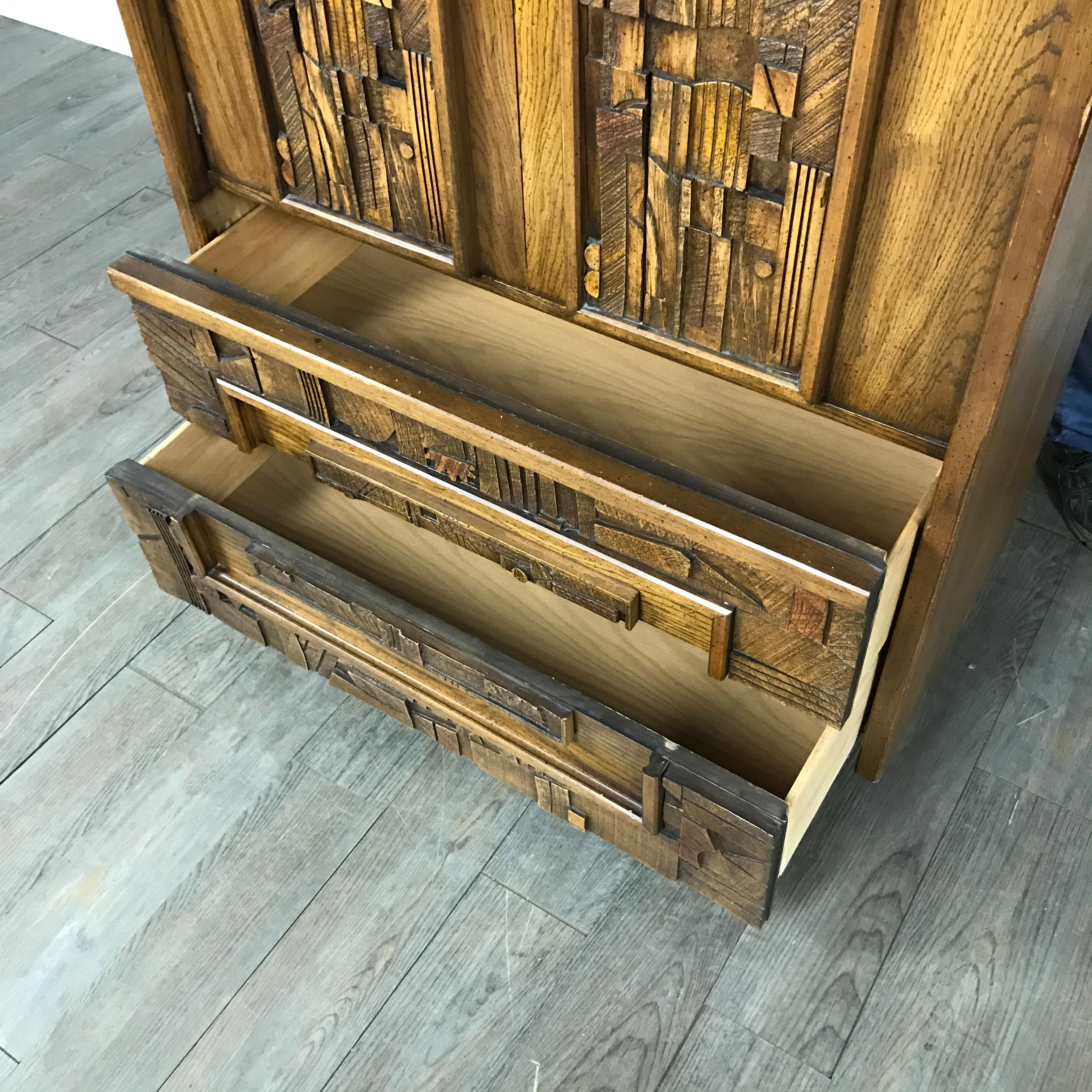Lane Furniture Brutalist Armoire   Image 5 Of 9