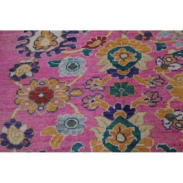 """Traditional Handwoven Turkish Oushak Rug - 8'2""""x10'7"""" For Sale - Image 10 of 12"""