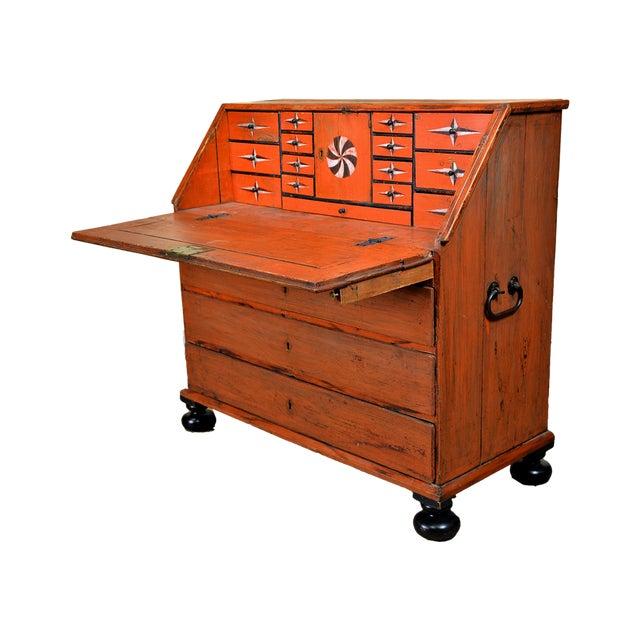 1848 Traditional Continental Slant Front Secretary Desk For Sale