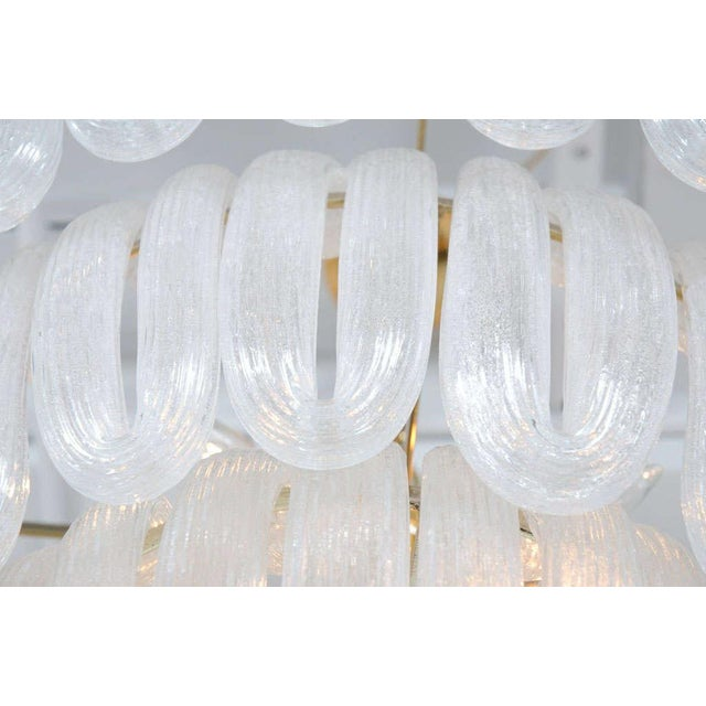 Hand Blown Glass Loop Chandelier after Barovier & Toso For Sale - Image 9 of 10