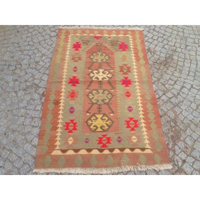 """Vintage Anatolian Oyshak Rug -- 3' x 4'11"""" For Sale - Image 5 of 6"""