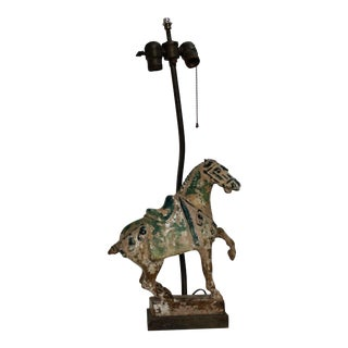 Tang Dynasty Style Horse Lamp For Sale