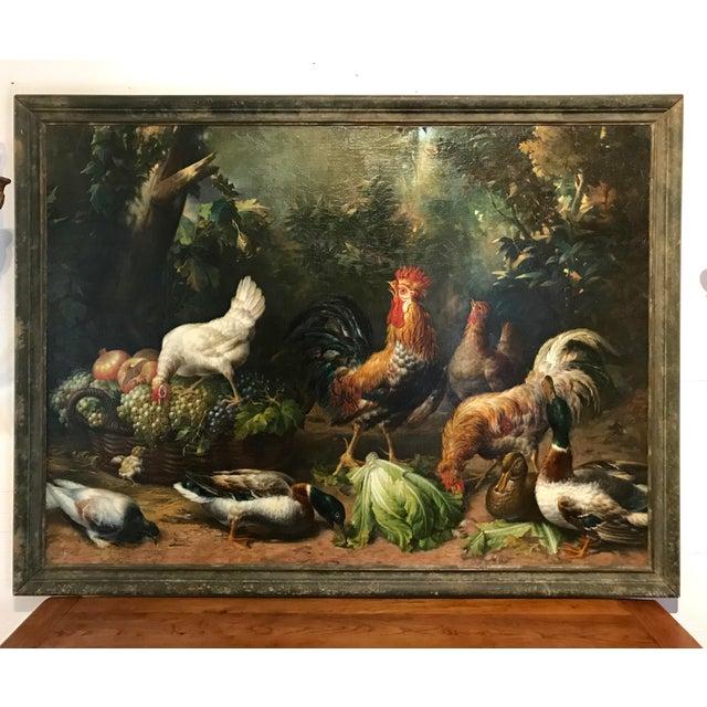 Monumental English 19th Century Farm Scene For Sale - Image 6 of 6