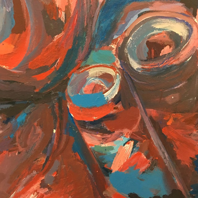 Original Abstract Oil Painting on Canvas - Image 6 of 6