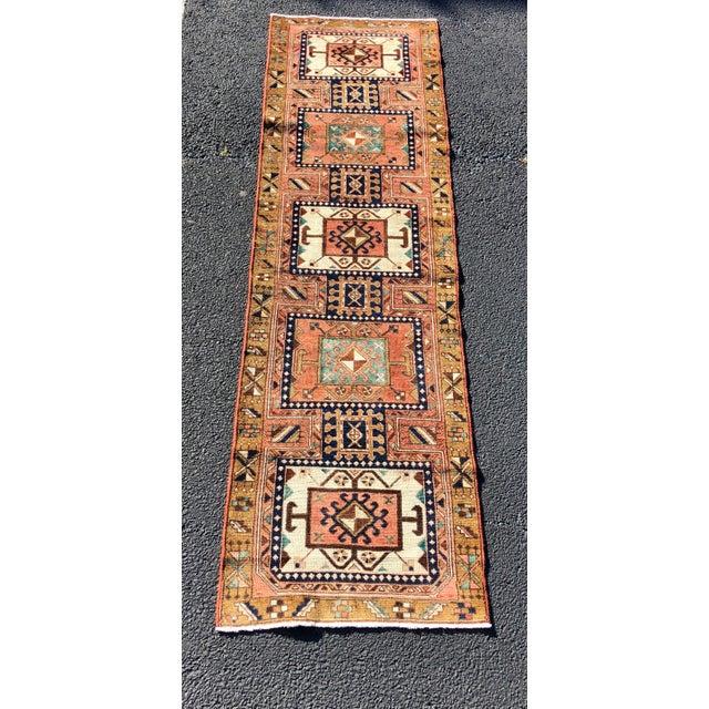 "Vintage Persian Karajeh Runner Rug - 2'8""x9'7"" For Sale - Image 13 of 13"