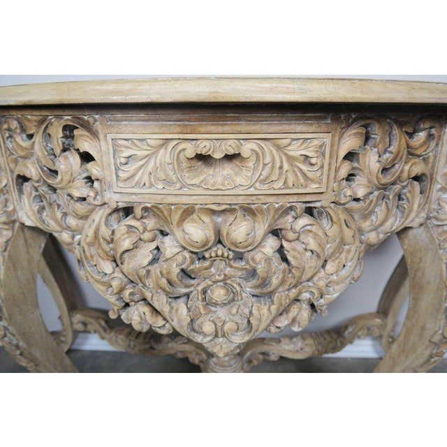 French Rococo Style Console With Centre Drawer For Sale - Image 9 of 10