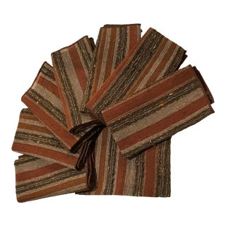 1960s Mid=Century Modern Woven Napkins or Placemats, Finland - Set of 8 For Sale