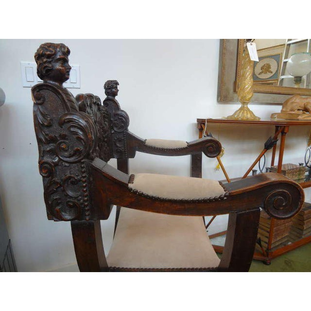 Gothic 19th Century Continental Renaissance Style Carved Chair For Sale - Image 3 of 9