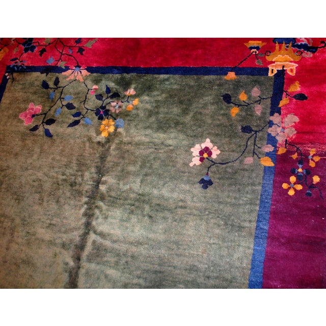 1920s Antique Art Deco Chinese Rug - 6′2″ × 11′8″ For Sale - Image 4 of 8