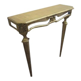 Italian French Louis XVI Mirror Wall Console Table For Sale