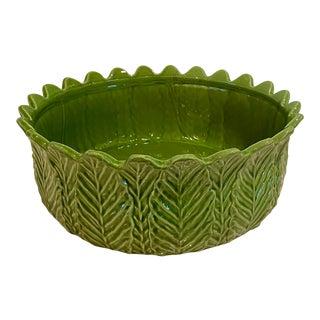 Vintage Portuguese Style Large Majolica Serving Bowl For Sale
