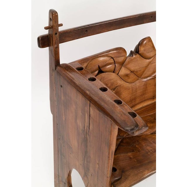 Walnut Jan De Swart Sculptural Bench For Sale - Image 7 of 9