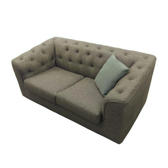 Charcoal Button Back Sofas - A Pair - Image 3 of 5