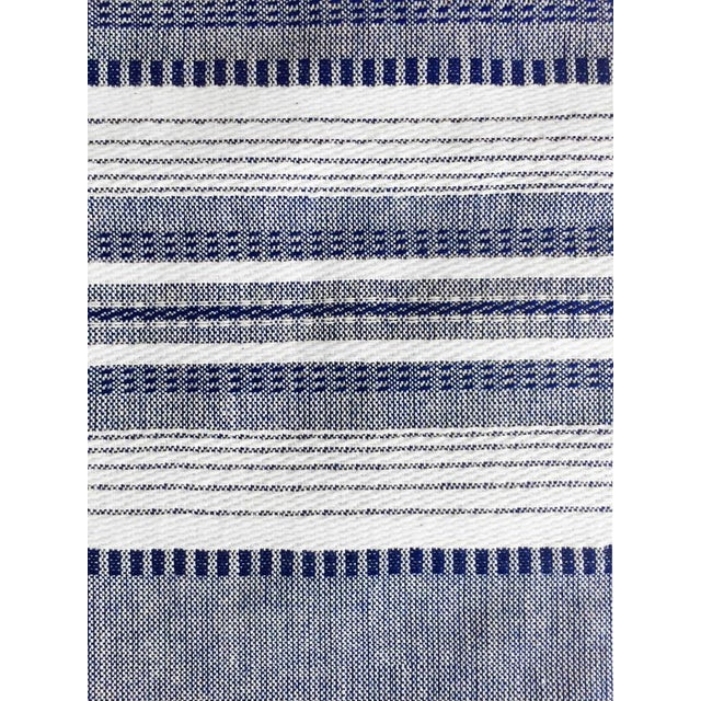 Boho Chic Indigo Chambray Kitchen Towel For Sale - Image 3 of 4