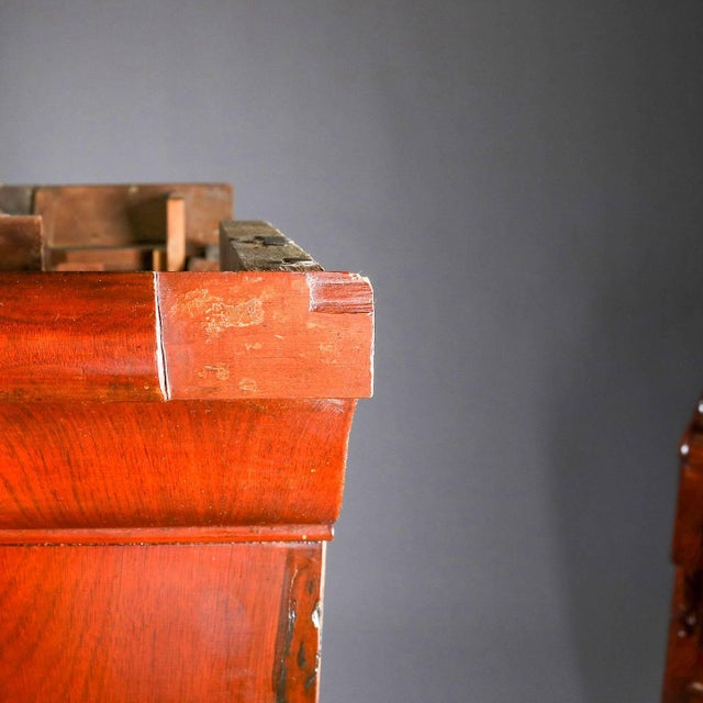 Antique American Empire Flame Mahogany Carved Slant Front Secretary 19th Century For Sale - Image 9 of 10