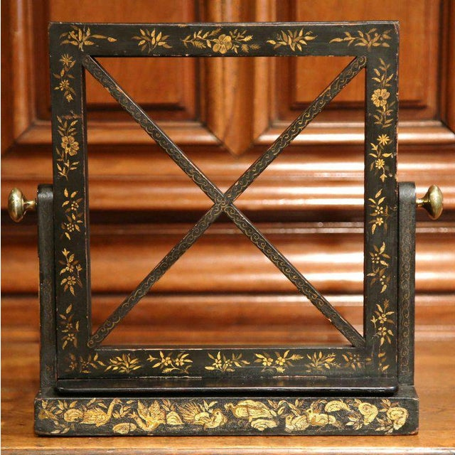 Early 20th Century French Hand Painted Bookstand - Image 2 of 7