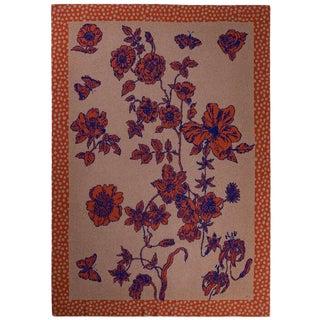 Je Suis Ta Fleur Pumpkin Cashmere Blanket, King For Sale
