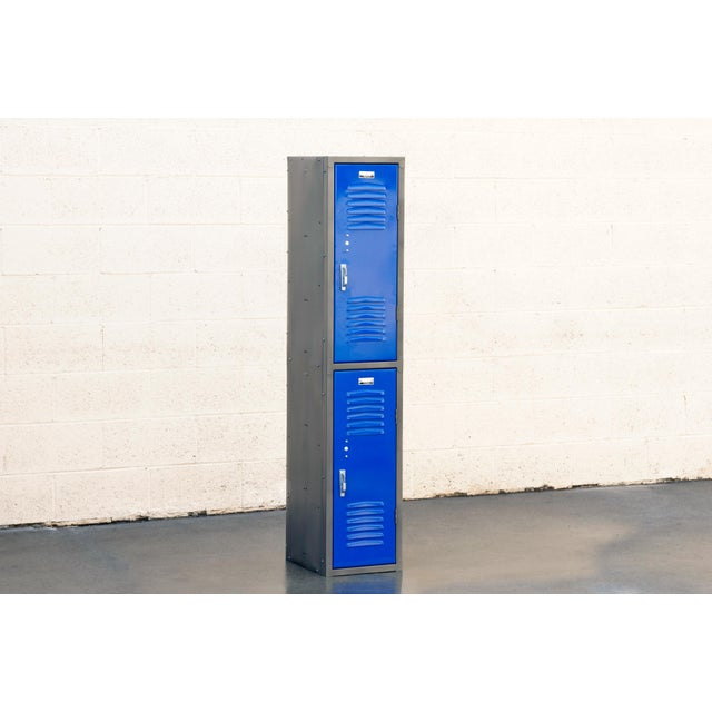 Metal 1970s Vertical Locker Cabinet,Refinished in Royal Blue For Sale - Image 7 of 7