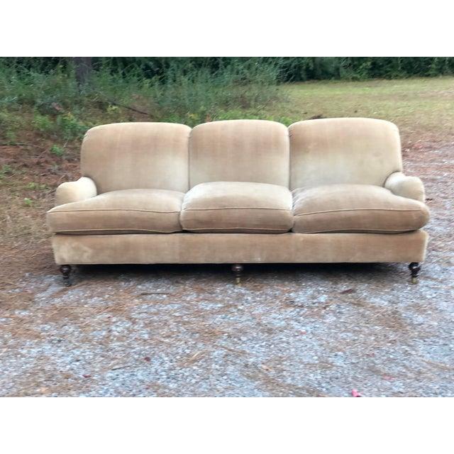 O Henry House Ltd Down Filled Velvet Chenille Sofa For Sale - Image 4 of 13