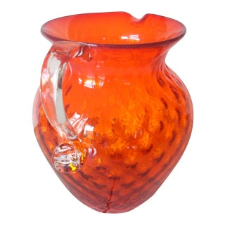 Vintage Fenton Hand Blown Pitcher