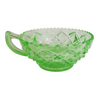Vaseline Glass Soup Cup
