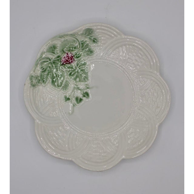 Mid 20th Century Italian Ceramic Strawberry Plate For Sale - Image 5 of 6