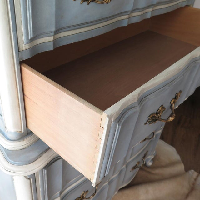 French Provincial Painted Highboy For Sale - Image 5 of 10