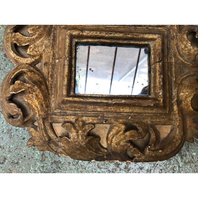 18th Century Small Italian Mirror For Sale - Image 6 of 13
