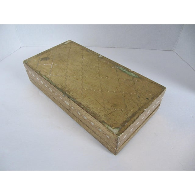 Italian Florentine Tissue Box Holder & Tray For Sale - Image 3 of 8