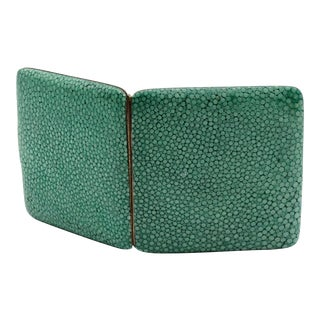 Art Deco English Shagreen Case For Sale