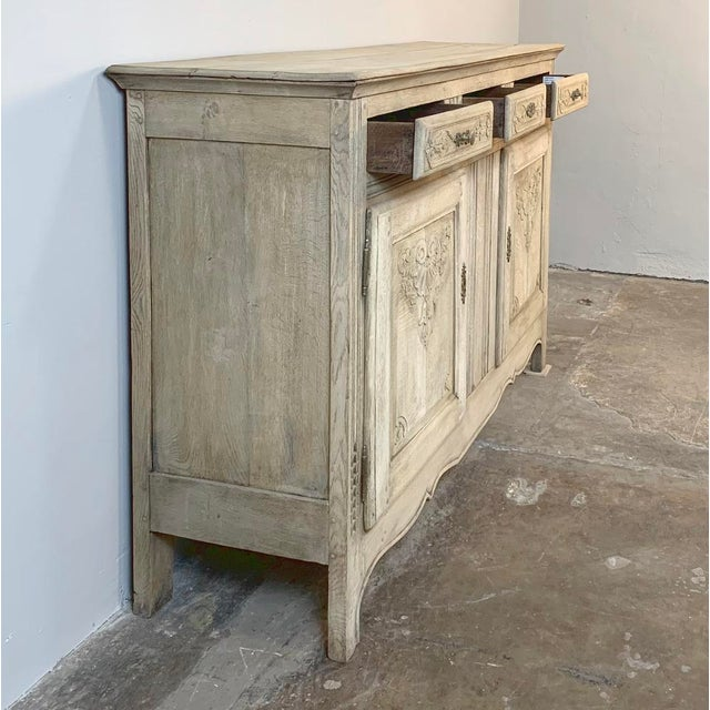 Neoclassical Revival 19th Century Rustic Regence Stripped Oak Buffet For Sale - Image 3 of 12