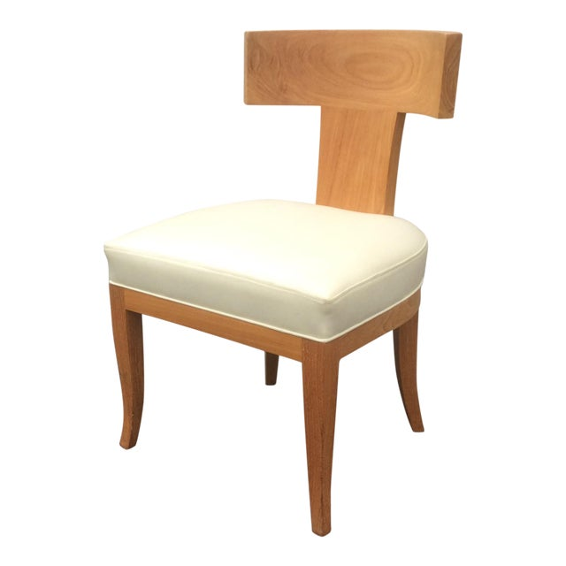 Mid Century Style Ceres Chair With Leather Seat by Ironies For Sale