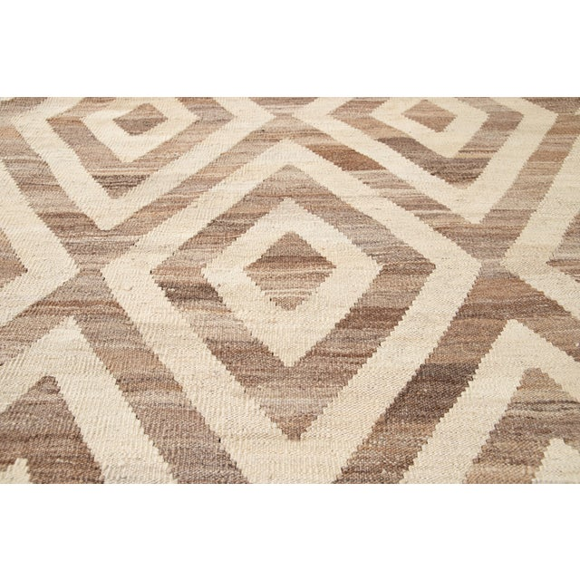 21st Century Modern Kilim Wool Rug For Sale In New York - Image 6 of 12
