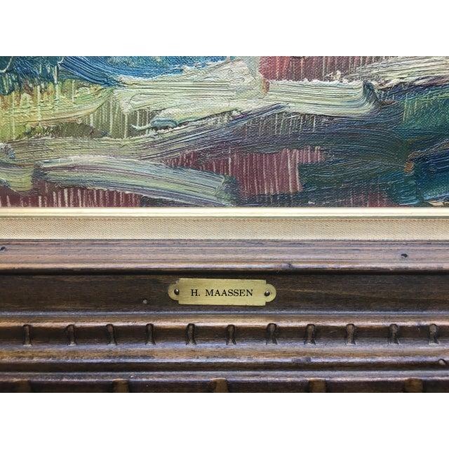 Still Life Palette Knife Oil Signed, Maassen For Sale - Image 4 of 10