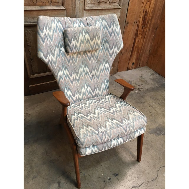 Vintage Mid Century Kurt Ostervig High Back Lounge Chair For Sale - Image 12 of 13