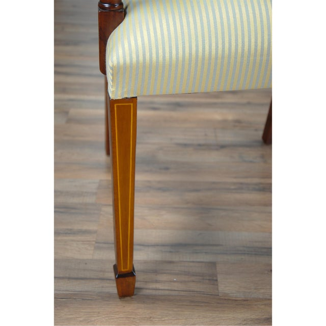 Sheraton Inlaid Mahogany Arm Chairs - A Pair For Sale - Image 6 of 9